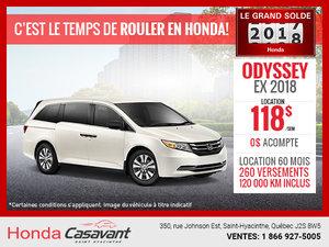 Honda Odyssey 2018 en location!