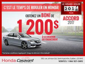 La Honda Accord Berline 2017