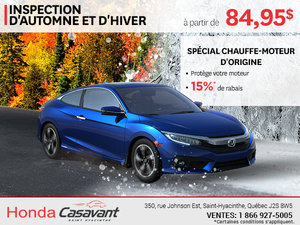 Inspection d'automne et d'hiver à partir de 84,95$
