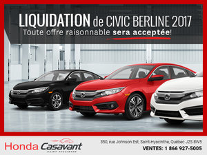 Liquidation de Civic Berline 2017!