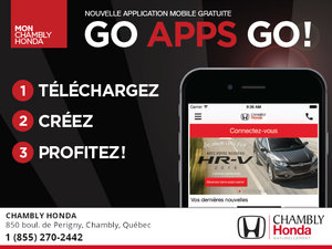Chambly Honda lance sa nouvelle application mobile !