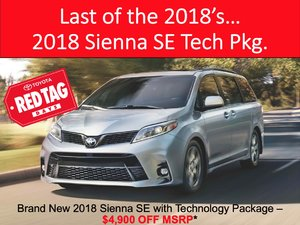 Last remaining 2018 Sienna