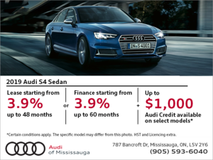 Drive the 2019 S4 Sedan today!