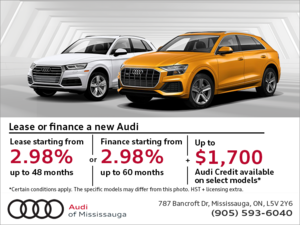 Audi's Monthly Sales Event.
