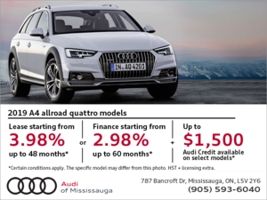Drive the 2019 A4 Allroad Quattro today!