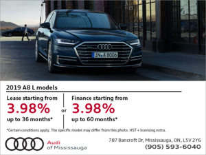 Drive the 2019 A8 L today!