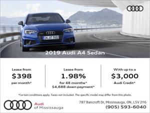Drive the 2019 A4 Sedan today!