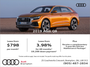 Drive the 2019 Q8 today!