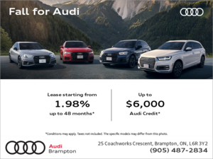 The Fall for Audi Sales Event.