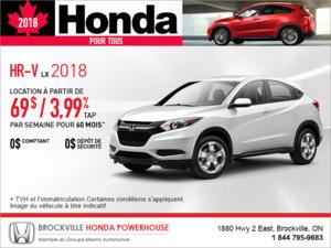 Louez la Honda HR-V 2018!