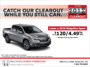 Lease the 2019 Honda Ridgeline