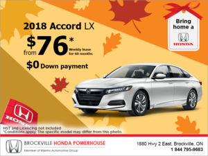 Lease the 2018 Honda Accord Sedan!