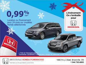 Ramenez une Honda chez vous!