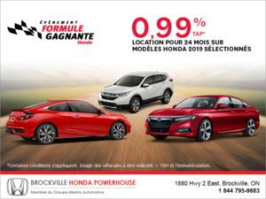 Événement formule gagnante Honda