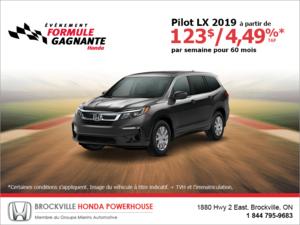 Louez la Honda Pilot 2019!