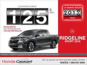 Louez la Honda Ridgeline 2018!