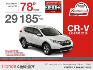 Louez le Honda CR-V 2018!