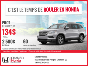 Honda Pilot EX 2017 en location