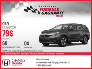 Louez le nouveau Honda CR-V 2017