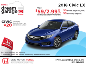 Lease the 2018 Honda Civic Sedan!