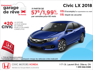 Louez la Honda Civic Sedan 2018!