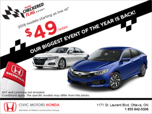 Honda Checkered Flag Event