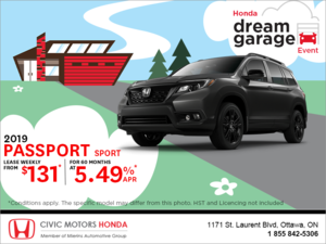 Lease the 2019 Honda Passport!