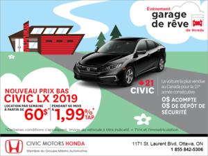 Louez la Honda Civic 2019!