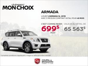 Obtenez la Nissan Armada 2019 dès aujourd'hui!