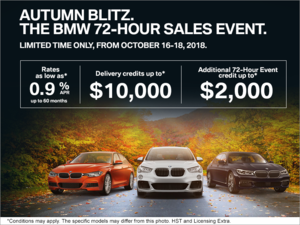 Autumn Blitz. The BMW 72-Hour Sales Event.