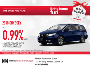 Save on the 2018 Odyssey!