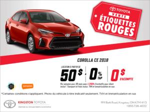 La Toyota Corolla 2018