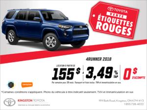 Le Toyota 4Runner 2018!
