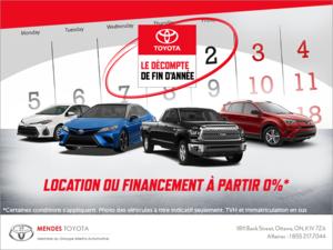N'attendez plus. Conduisez une Toyota dès aujourd'hui!