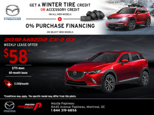 Get the 2018 Mazda CX-3 Today!