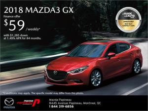 Get the 2018 Mazda3!