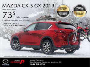 Procurez-vous la Mazda CX-5 2019!