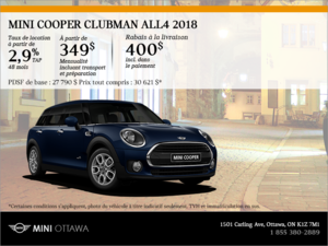 La MINI Cooper Clubman ALL4 2018