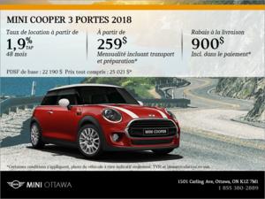 La MINI Cooper 3 portes 2018