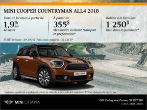 La MINI Cooper Countryman ALL4 2018