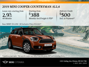 2019 MINI Cooper Countryman ALL4