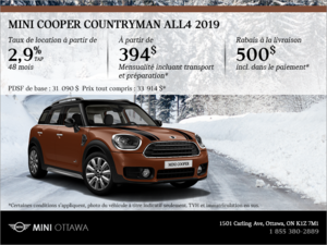 La MINI Cooper Countryman ALL4 2019