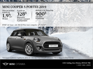 La MINI Cooper 5 portes 2019