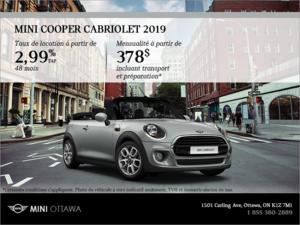 La MINI Cooper Cabriolet 2019