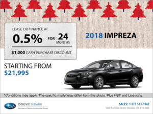 Get the 2018 Subaru Impreza 4-Door Today!