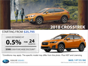 Get the 2018 Subaru Crosstrek Today!
