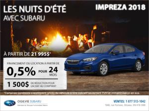 Obtenez la Subaru Impreza 4 portes 2018 dès aujourd'hui!
