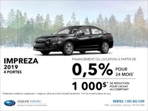 Louez la Subaru Impreza 4 portes 2019 dès aujourd'hui!