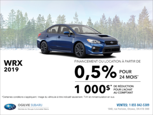 Louez la Subaru WRX 2019 dès aujourd'hui!