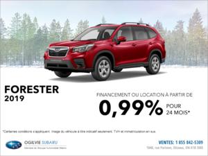 Louez le Subaru Forester 2019 dès aujourd'hui!